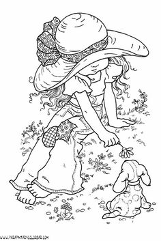 Holly Hobbie Colouring Pages Mandala Coloring Pages, Animal Coloring Pages, Free Coloring Pages, Coloring Books, Holly Hobbie, Hobby Lobby Letters, Embroidery Patterns, Hand Embroidery