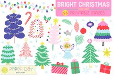 Bright Christmas Clip Art | Raster  @photoshoplady