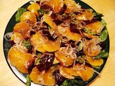 Tangerine (or Mandarin Orange) and Beet Salad: FALL/WINTER HOLIDAY RECIPE LINKS