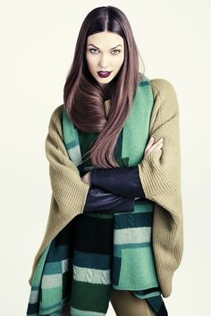 #houseofstyle | Karlie Kloss for H Fall 2011 Lookbook