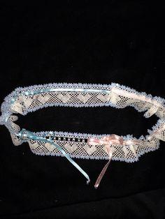 Wedding garter. Sukkanauha kummityttärelle 2014.