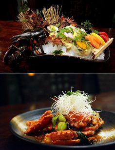 랍스터 사시미 & 랍스터 이타메 Lobster Sashimi & Oriental Style Deep Fried Lobster