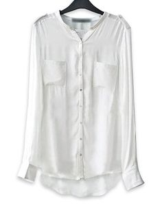 Image result for white blouse high low