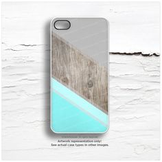 iPhone 6 Case Mint iPhone 5C Case Wood Print by HelloNutcase