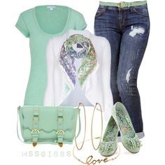 """""""Soft Color Summer"""" by mssgibbs on Polyvore"""