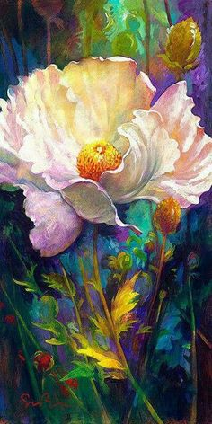 My favorite Simon Bull painting. In Your Light by Simon Bull Arte Floral, Watercolor Flowers, Watercolor Paintings, Watercolors, Peony Painting, Flower Paintings, Art And Illustration, Fine Art, Beautiful Paintings
