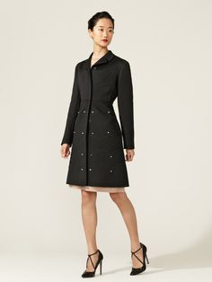 Wool and Cashmere Rockstuded Scalloped Coat by Valentino on Gilt.com