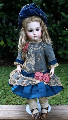 """Circle Dot Bru French Bisque Bebe 20"""" with Original Body, Bru Shoes from signaturedolls on Ruby Lane"""