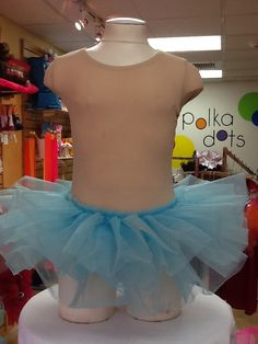 Organdy Tutu in Light Blue $12.50. One Size Fits Most. For more information or to check availability, call or email Polka Dots. 916-791-4496. polkadotsproshop@gmail.com