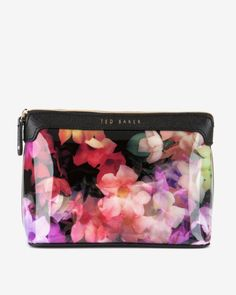 Cascading floral large cosmetic bag - Black | Gifts for Her | Ted Baker