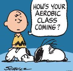 Aerobic class? Snoopy