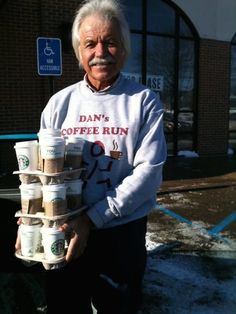 Every Thursday for more than three years, a 69-year-old man named Dan Dewey has been ordering dozens of Starbucks coffees and hauling them back to the Michigan Cancer Institute, for anyone in the mood for a coffee of their choice.