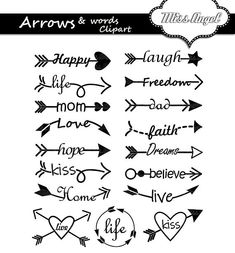 Krebs Tattoo, Poster Design Software, Arrow Words, Arrow Clipart, Cursive Alphabet, Arrow Tattoos, Journal Paper, Word Art, Small Tattoos