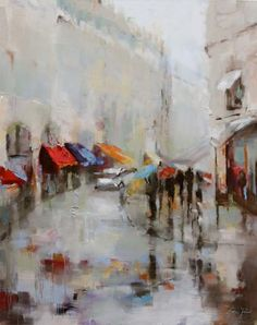 Paris in the Rain I by artist susie pryor