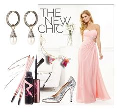 Column Strapless Sleeveless Chiffon Prom Dress With Beaded by johnnymuller on Polyvore featuring Maison Margiela