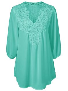 Oversized Sweet Crochet Spliced Blouse For Women