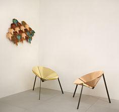 De Castelli Pensando Acapulco chair design IvDesign #brass #copper #salone2015 Photo: © Alberto Parise