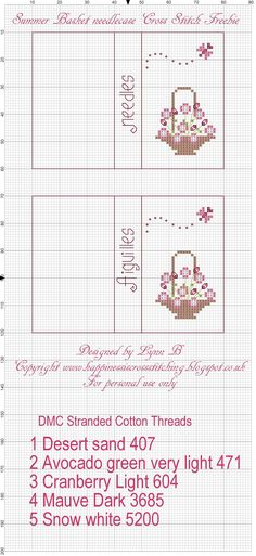 Happiness is Cross Stitching : Freebie Friday - Needlebook pattern and free gift bags