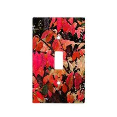 Burning Bush Abstract Light Switch Plates