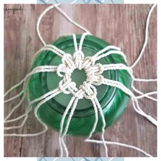 Upcycled Crafts, Glass Floats, Thrift Store Crafts, Thrift Stores, Macrame Plant Hangers, Macrame Design, Macrame Projects, Macrame Knots, Micro Macrame