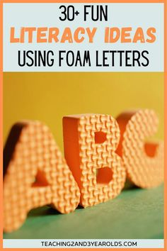 It's super easy to put together literacy activities using foam letters. Toddlers and preschoolers love to handle them, and they come in a variety of sizes, making them even more versatile! #letters #alphabet #abc #learning #skills #preschool #toddler #2yearolds #3yearolds #teaching2and3yearolds Letter Matching Game, Letter Games, Teaching The Alphabet, Letter Activities, Alphabet Activities, Abc Learning, Learning Skills, Learning Spanish, Teaching Tools