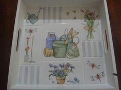 Bandeja campestre con azulejos