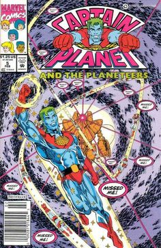 Issue Five - February '92 Captain Planet and the Planeteers are trapped in the environmental disaster theme park known as Pollution Land!