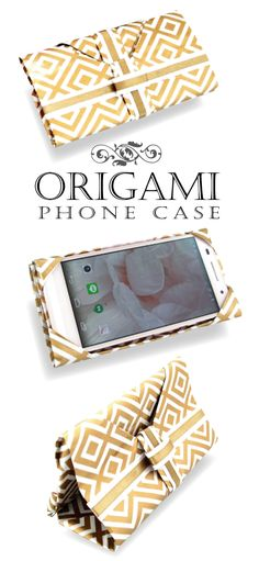 Phone case DIY No-sewing needed, just fold a piece of paper スマホ&タブレットケースの折り方