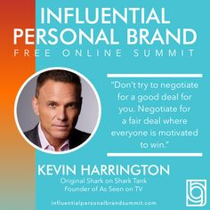 Check out this interview with the Godfather of the infomercial and one of the original sharks from #sharktank, Kevin Harrington!!!  Kevin Harrington is an original shark from the hit TV show Shark Tank and a successful entrepreneur for more than forty years. He's the co-founding board member of the Entrepreneurs' Organization and co-founder of the Electronic Retailing Association. Kevin Harrington, Building A Personal Brand, Radio Personality, Brand Strategist, Keynote Speakers, Instagram Influencer, Shark Tank, See On Tv