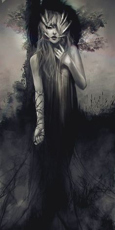 Haunting By Indiana, US based artist Jace Wallace created the beautiful fantasy illustrations in a soft style Arte Digital Fantasy, Fantasy Kunst, Digital Art, Dark Fantasy Art, Dark Art, Dark Gothic Art, Mononoke, Art Manga, Arte Horror
