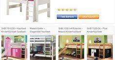 Vergleich Tabelle Hochbetten Testsieger http://www.hochbett-kinder.com/#Hochbett-mit-Rutsche