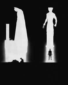 Silhouette Superhero Art - Past and Present Comparisons — GeekTyrant