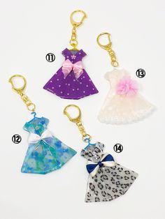 ワンピースキーホルダー | ハンドメイドマーケット minne Jewelry Stores Near Me, Fashion Jewelry Stores, Lavender Bags, Lavender Sachets, Origami Clothing, Graduation Cards Handmade, Origami Dress, Doll Dress Patterns, Gifts Under 10