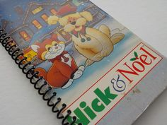 VHS Notebook, 3.75 X 7.25, 50 pages,  Nick and Noel, Upcycled Notebook, Happy Holidays, Christmas Notebook, Spiral Notebook, Merry by LeeEmporium on Etsy