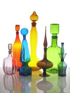 Blenko hanbblown glass~the orange and yellow one  KT