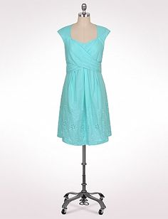 Cute for Easter! Embroidered Cross Bodice Dress | Dressbarn: wrap front would show off my new waist! ; )