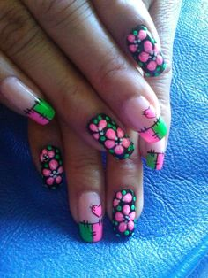 Nail Polish Designs, Cute Nail Designs, Easy Paintings, Cool Nail Art, Nail Care, Cute Nails, Finger, Make Up, Fall Nails