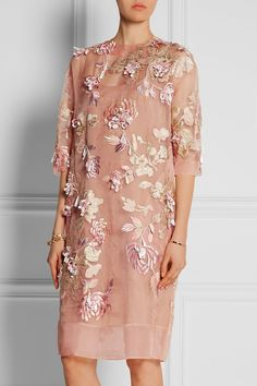 Biyan | Ava embellished silk-blend organza dress | NET-A-PORTER.COM