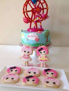 Amazing Lalaloopsy Birthday Party cookies!  See more party planning ideas at CatchMyParty.com!