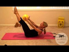 FREE Abs Workout - Pilates Ball Abs - Weighted Abs with Ball BARLATES BODY BLITZ - YouTube