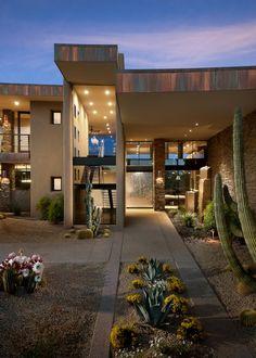 Striking contemporary home in the Arizona desert Contemporary homes www.altosdelosmonteros.com ask for next villa E27