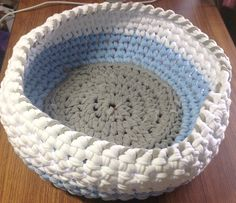 Ravelry: JCsSewingRoom's How to Cut T-shirt Yarn and Crochet a Basket