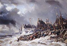 """Eugène Isabey: """"Tempête devant Saint-Malo"""", 1860, pil on canvas, Dimensionshauteur : 107 cm. largeur : 156 cm."""