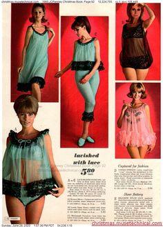 1960s Fashion, Vintage Fashion, Christmas Books, Christmas Catalogs, Lingerie Catalog, Vintage Underwear, Moda Vintage, Vintage Ads, Retro Lingerie