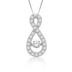 Beats of Love: Diamond ½ct. t.w. Infinity Pendant in 10k White Gold