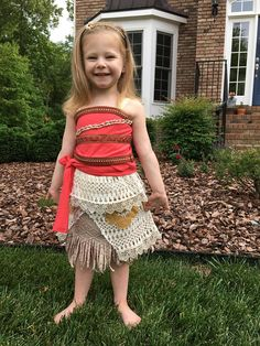 Traje de Moana Top y falda para niñas adultos o niños