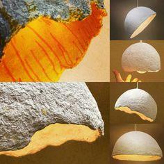 Papier, Pappmaché-Lampe, Anhänger Lampenschirm, aus Pappmaché ...