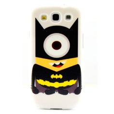 Amazon.com: Hard Back Cover Case funny happy Cute Minion Batman for Samsung Galaxy S3 I9300 SIII: Cell Phones & Accessories