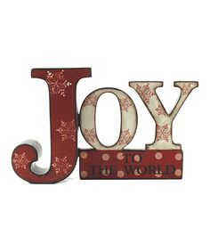 Another great find on #zulily! 'Joy To The World' Block by Blossom Bucket #zulilyfinds