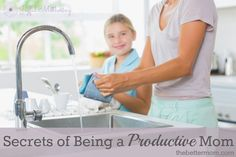 Secrets of Being a Productive Mom (not a bad link at thebettermom.com)